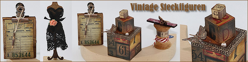 Vintage Steckfiguren