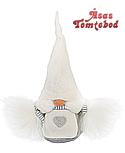Schwedischer Gnom Viktoria weiße Mütze, H 20 cm