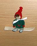 Magnet, Santa mit Snowboard
