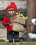Butticki Santa Junge mit Geschenke-Sack, H 14 cm