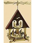 Pyramidenhaus Christi Geburt, 2 stöckig, 36 cm h