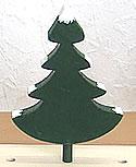 1 Tannenbaum mit Schnee, dunkelgrün