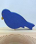 1 großer flacher Vogel blau