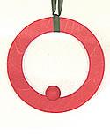 Deko - Ring rot, 16 cm