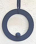 Deko - Ring blau, 16 cm