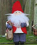Butticki Santa Sack, rot/blau, H 14 cm
