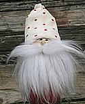 Butticki Weihnachtsmann mit weißem Bart, weiße Mütze, h 15 cm