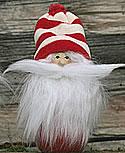 Butticki Weihnachtsmann mit weißem Bart, rot/weißer Mütze, h 15, EINZELSTÜCK