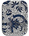 Tray Indian Indigo blue/weiß 27x20 cm