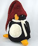 Schwedischer Filzpinguin schwarz/rot, 20 cm, EINZELSTÜCK