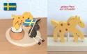 Holzstecker gelbes Pferd mit Tupfen