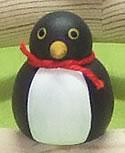 1 Holzstecker großer Pinguin