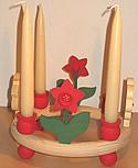 1 Holzstecker große Narzisse, rot