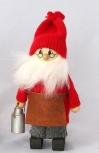 großer, schwedischer Weihnachtsmann mit Milchkanne, H 19 cm