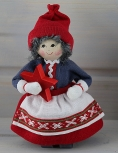 Madame Noel avec un ètoile rouge, 14 cm, Butticki