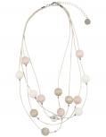 Aarikka Vilkas finnische Halskette rosa (Apfelblüte),  l 45 cm