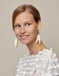 Aarikka Jalava finnische Ohrringe natur lackiert, h 9 cm