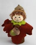 Herbst-Blumenkind - EICHEL braun, H 12 cm