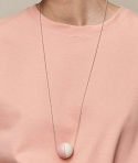 Aarikka Aho necklace rosé/white, l 84 cm