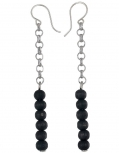 Aarikka Ariel finnische Ohrringe schwarz,  7 cm