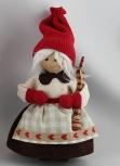 Butticki Santa Frau mit Geschenk, 14 cm, EINZELSTÜCK