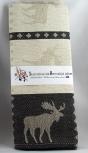 Schwedisches Geschirrtuch Elch schwarz, 50x70 cm