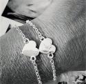 AnnaViktoria coeur bracelet Renne en argent, l 22 cm