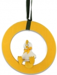 Deko - ring yellow, 16 cm - without figure