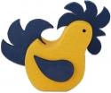 1 schwedischer Hahn gelb/blau für Holzkränze