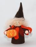 Autumn boy pumpkin brown/orange, H 9 cm