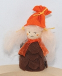 Autumn girl fir con, brown/orange, H 9 cm