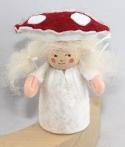 Herbstwichtel Pilzkind rot/weiß, H 9 cm