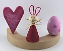 1 wooden Easter egg rose for candlerings