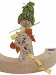 Autumn birch man with kite, h 13 cm