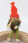 Autumn girl with cone, h 13 cm, green orange