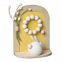 Aarikka Easter door yellow, decorated, h 16 cm