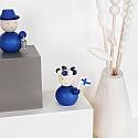 Aarikka SAARRISTLAINEN finish figure blue with fish, h 8 cm