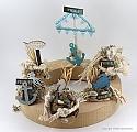Under water world - Turtle under water blue, hight 5 cm