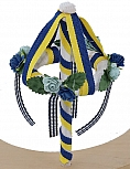 Big Midsommar-tree with flowers and ribbons, h 11 cm