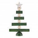 Aarikka Joulupuu small Christmas tree green/white, table decoration, h 18 cm