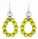 Aarikka Merida earrings lime green, Length 6,5 cm