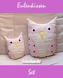 pillow Set Owl pink