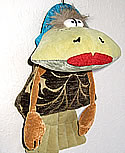 Frosch Junge 2 am Gummiband