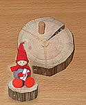 Holz - Steckunterlage mit 6 mm Dübel