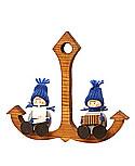 2 maritime Tonttus auf Anker