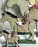 Talvel mittlerer Esel mit Geschenketasche, H 46 cm