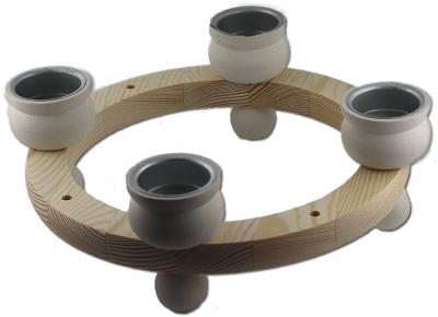 tealights ring 23 cms, white
