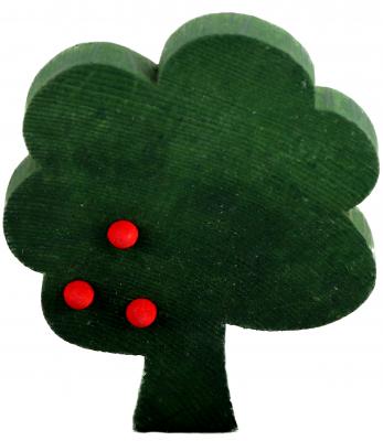 1 wood plug tree, d.green