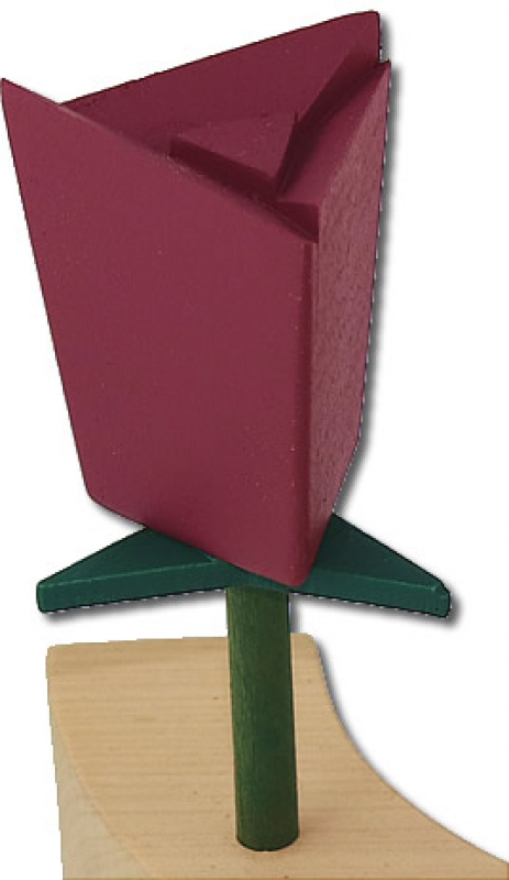 Sebastian design rose winered, h 6 m, for candlerings