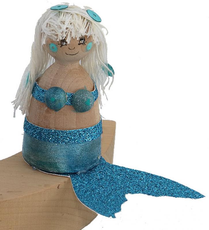 Mermaid light blue, H  6,5 cm